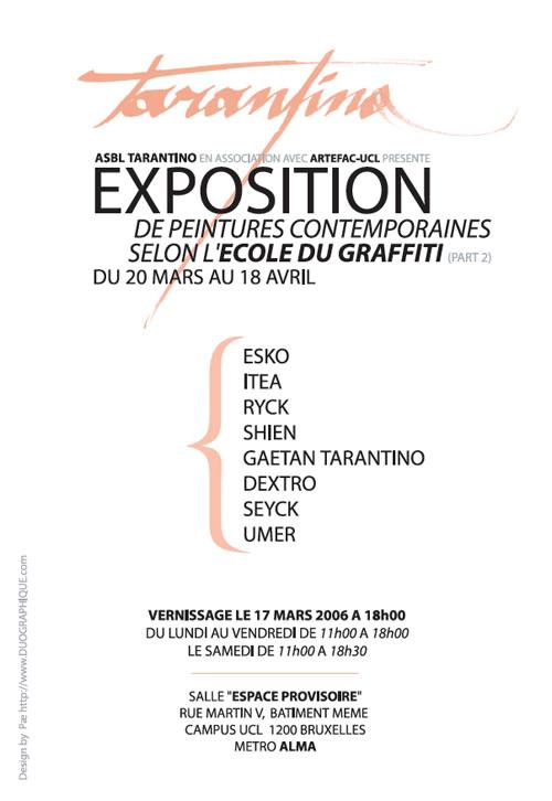 Exposition de peinture contemporaines